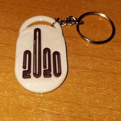 KeyChain 2020.jpg Download free STL file Key ring 2020 • Design to 3D print, Se3aS