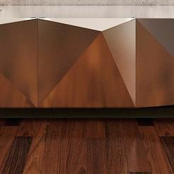 Modelos 3D mesa de origami 2-19, decoratiehgallery