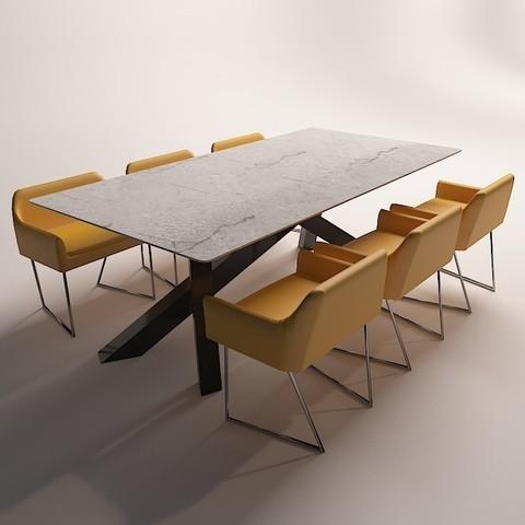 Modelos 3D mesa comedor moderna 3 ・ Cults