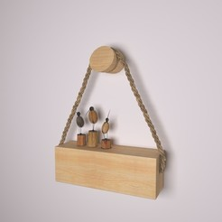 Download 3D printing designs wooden Holder-46, decoratiehgallery