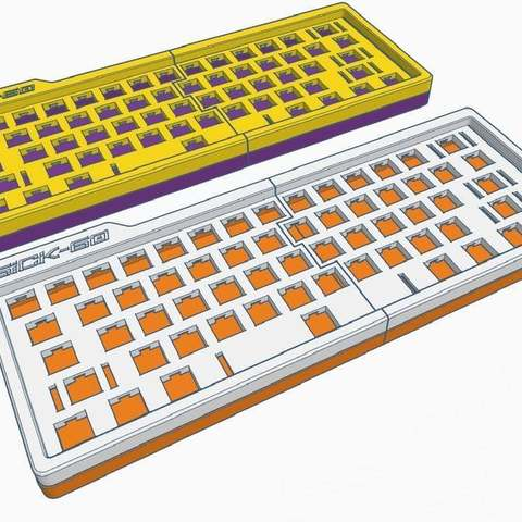 aeccab3fd14e5bdd1d61f0005324872f_display_large.jpg Download free STL file Mechanical Keyboard - SiCK-60 (60%) • Model to 3D print, FedorSosnin