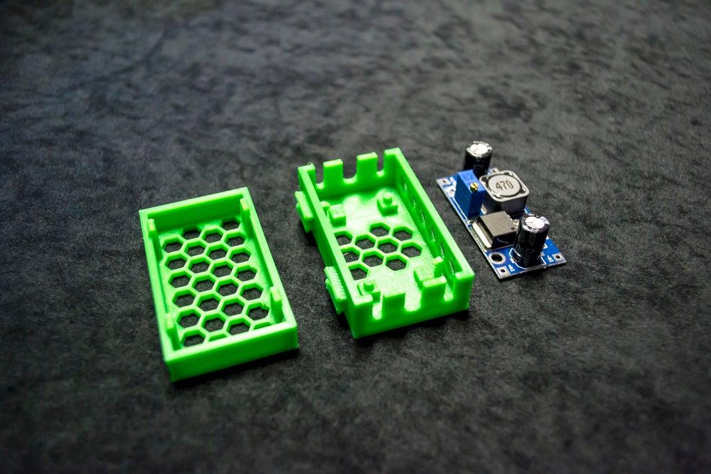 fb46525402805068a09fa28951b188da_display_large.JPG Download free STL file LM2596 and LM2596S Buck converter tool-less snap-fit enclosure - Ender, CR-10, 2020 • 3D printer template, FedorSosnin