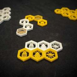 Download free 3D printing models Hive! Boardgame - Expansion Bugs, FedorSosnin