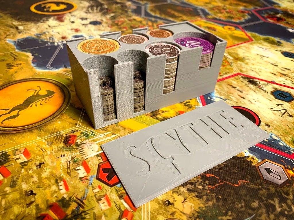 c4da9e837a612f89907bb12f6ebd9747_display_large.jpeg Télécharger fichier STL gratuit Porte-monnaie Scythe avec couvercle - Carton & Monnaies en métal • Design imprimable en 3D, FedorSosnin