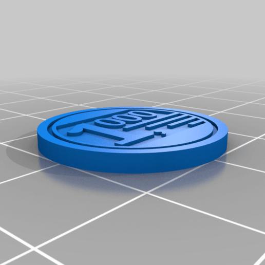 """1000_x_60.png Télécharger fichier STL gratuit Pièces de monnaie pour le jeu de société """"À vendre • Design imprimable en 3D, FedorSosnin"""