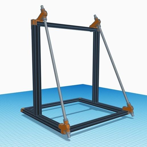Télécharger fichier STL gratuit Anet A8 Plus - Bear X - Bracelet de cadre • Plan à imprimer en 3D, FedorSosnin
