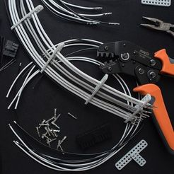 Télécharger fichier STL gratuit Peignes de câbles pour câbles PC personnalisés à manchons, FedorSosnin