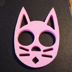 Download free STL file Cat Keychain (No Ear Grooves) • 3D printer template, Nacelle