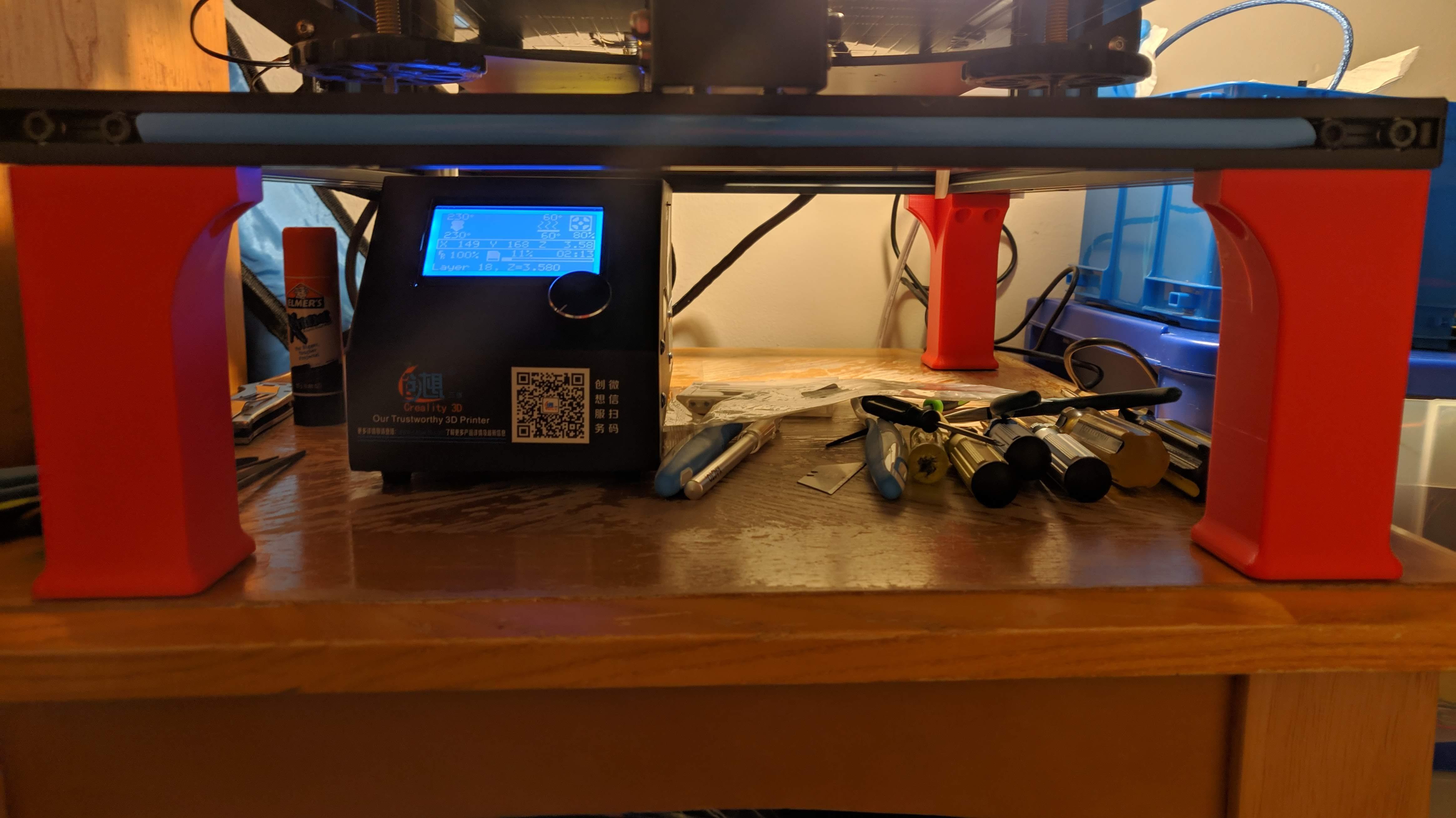 MVIMG_20190108_162031.jpg Télécharger fichier STL gratuit CR-10 Pied W/Fonds en liège • Design pour impression 3D, Nacelle