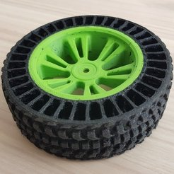 Download free STL files Airless Tyre for Traxxas E-Revo VXL (Dual Extrusion), lmbcruz