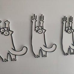 Télécharger fichier 3D gratuit Simon's Cat - Scratch and Stretch - Prêt pour MMU, lmbcruz