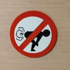 Free 3D printer files No Fart Sign - MMU ready, lmbcruz