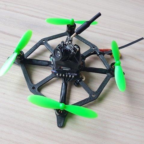 Free 3D printer designs MicroDrone 2s 3D printed Frame, lmbcruz
