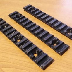 Download free STL files RIS Rail for round handguard, lmbcruz