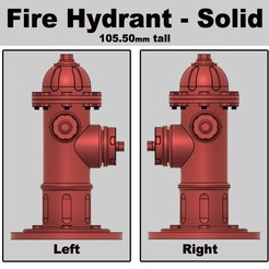 Fire Hydrant Solid.jpeg Download STL file Fire Hydrant • 3D printing template, CustomAndDesign