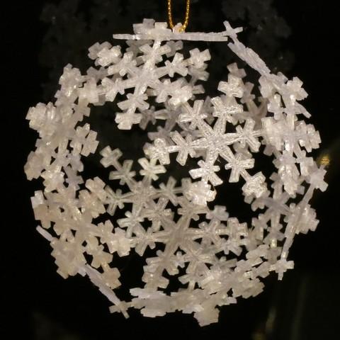 ornament_display_large.jpg Télécharger fichier STL gratuit Ornement de flocon de neige Icosahedron • Modèle imprimable en 3D, Ristrorg