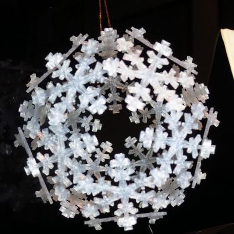 ornament4_display_large.jpg Télécharger fichier STL gratuit Ornement de flocon de neige Icosahedron • Modèle imprimable en 3D, Ristrorg