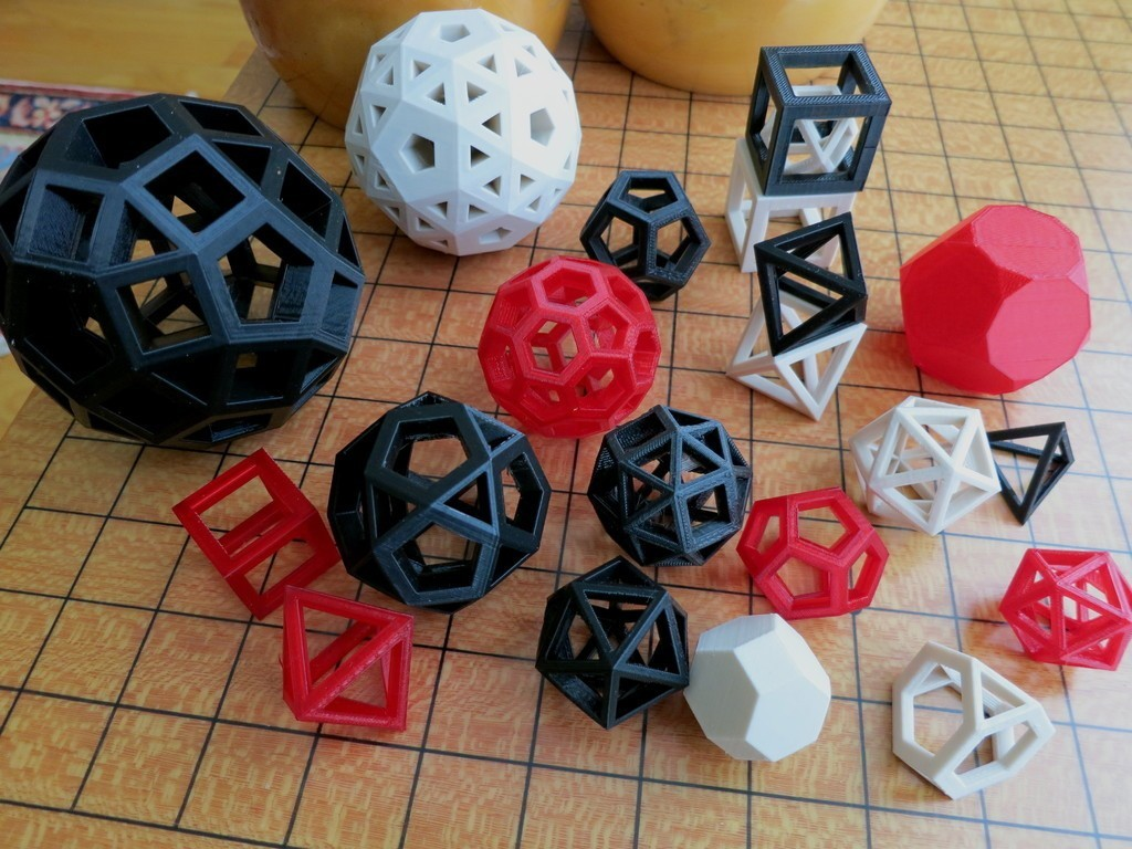 poly_display_large.jpg Download free STL file Customizable Convex Polyhedra • 3D printable template, Ristrorg