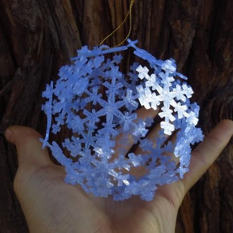 ornament7_display_large.jpg Télécharger fichier STL gratuit Ornement de flocon de neige Icosahedron • Modèle imprimable en 3D, Ristrorg