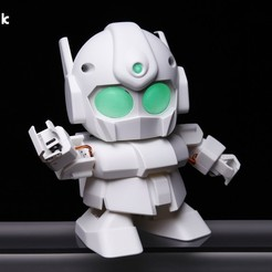 Free 3D printer designs RAPIRO - The Humanoid Robot for your Raspberry Pi, Gaspiage