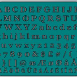 Télécharger plan imprimante 3D gatuit Dessin du modèle de lettre, Saeid