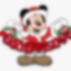 Descargar modelos 3D gratis Navidad de Mickey, Saeid