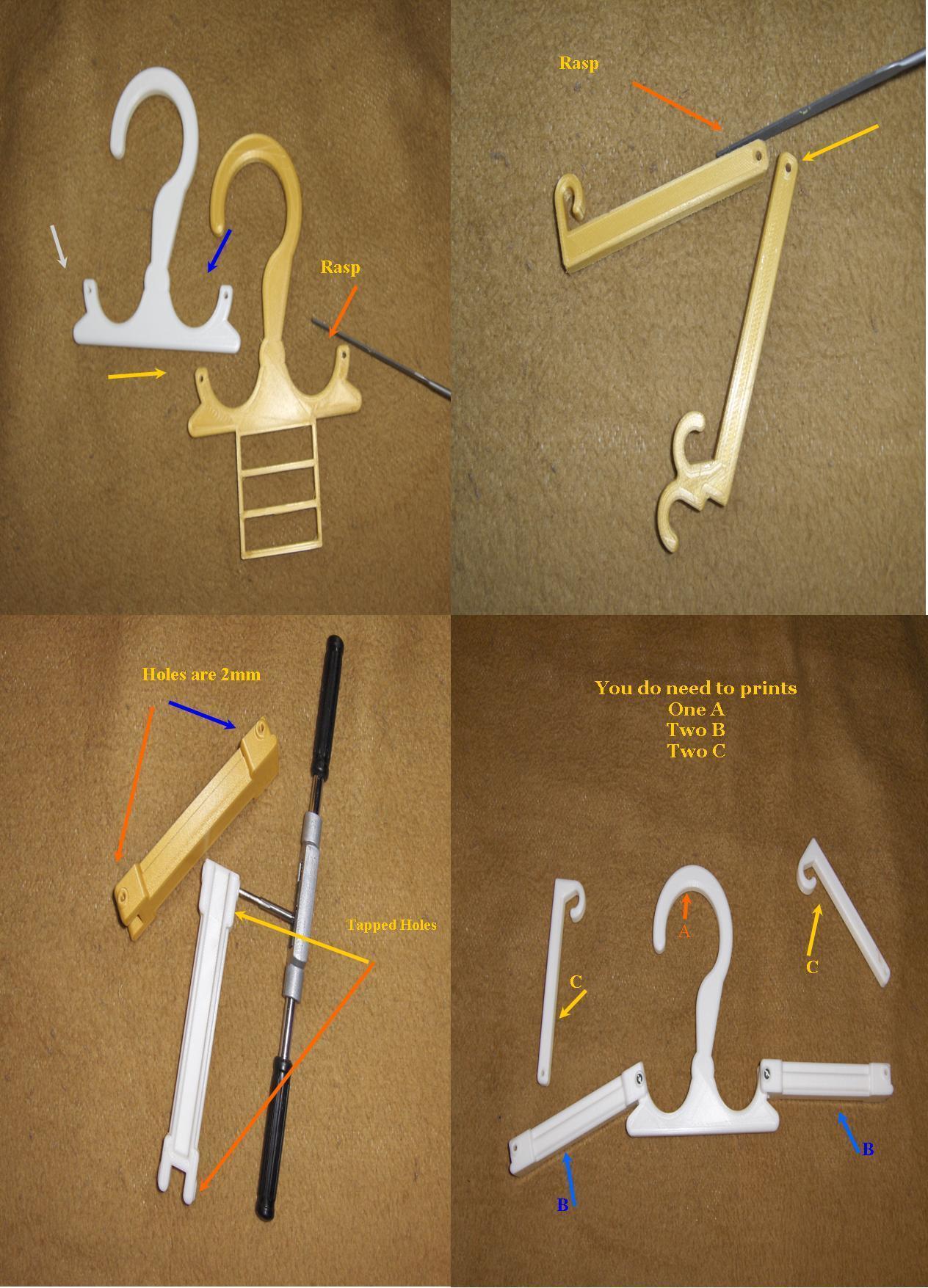 Billede3.jpg Download free STL file Travel Hanger T. up 10 kg • 3D print design, Saeid
