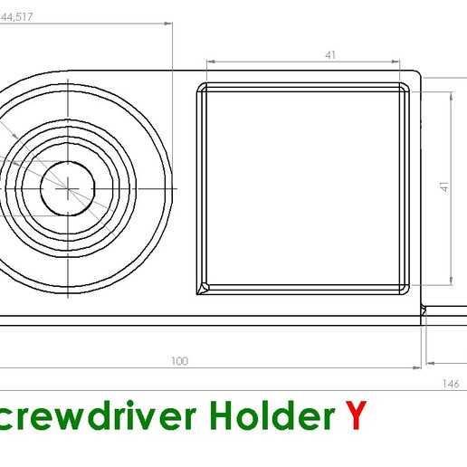 ScrewDriverY.JPG Download free STL file Screwdriver Holder • 3D printer design, Saeid