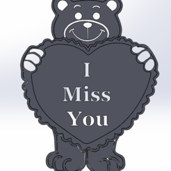 Valentine A.PNG Download free STL file Valentines Love Bear • 3D printing object, Saeid
