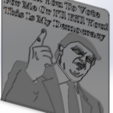 Download free 3D printing designs Donald Trump Democracy, Saeid