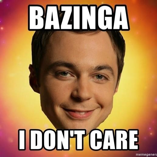 Download free 3D printer templates Bazinga! I don't Care (Sheldon), Saeid