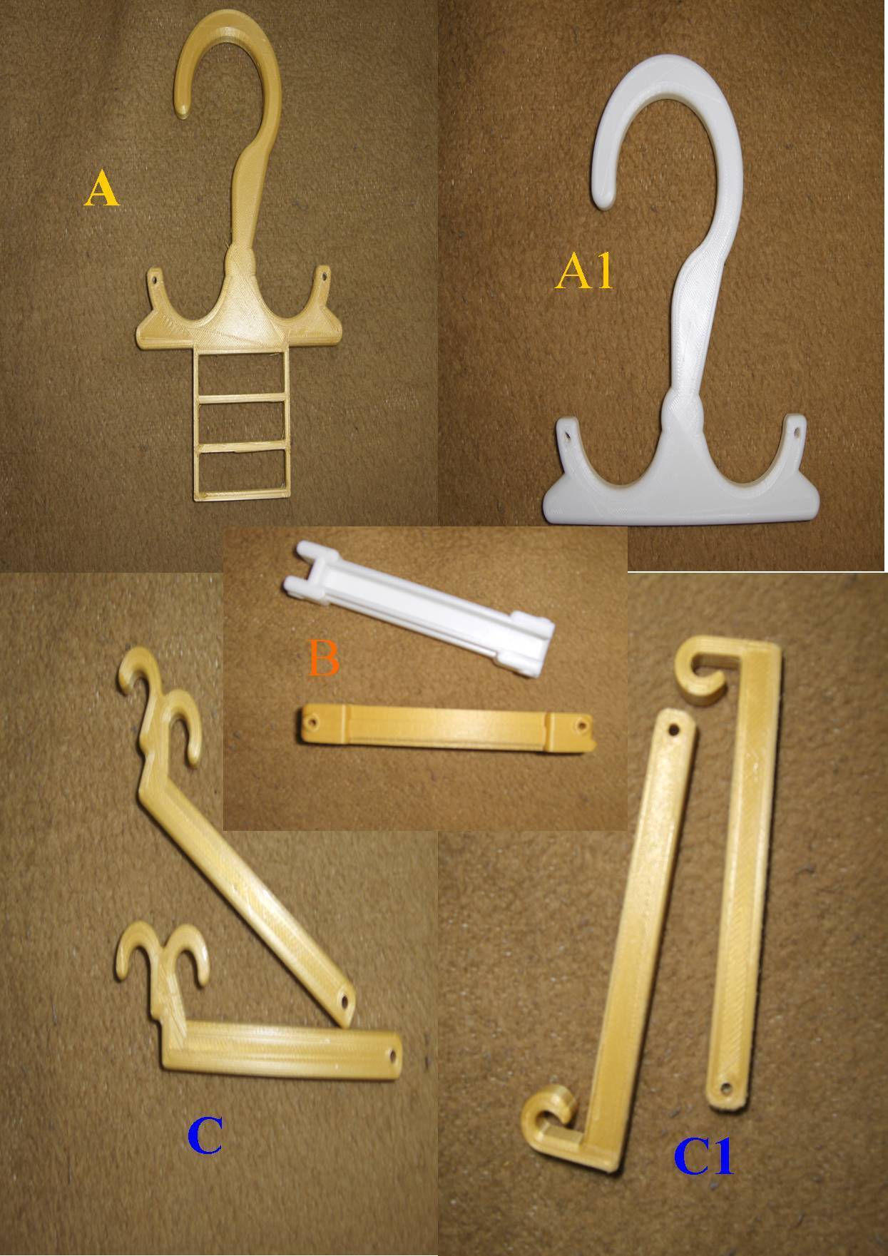 Billede4.jpg Download free STL file Travel Hanger T. up 10 kg • 3D print design, Saeid