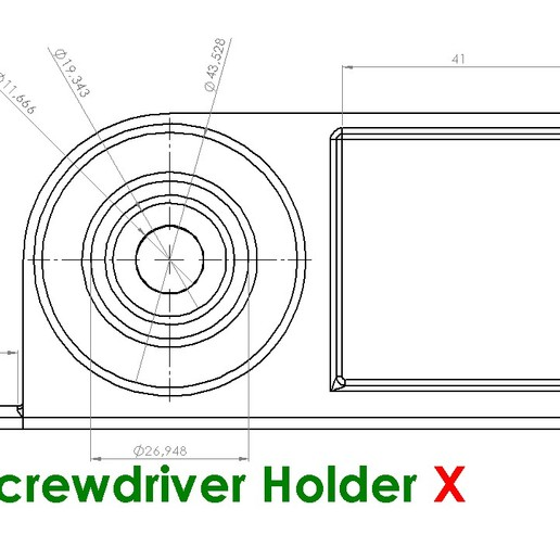 ScrewDriverX.JPG Download free STL file Screwdriver Holder • 3D printer design, Saeid