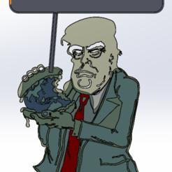 Télécharger fichier STL gratuit Donald Trump ne croit pas à l'environnement, Saeid