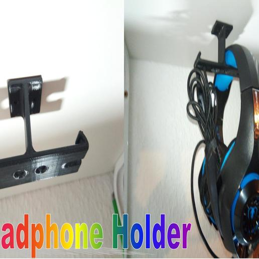 Billede3.jpg Télécharger fichier STL gratuit Support pour casque d'écoute • Objet pour impression 3D, Saeid