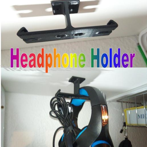 Download free 3D print files Headphone Holder, Saeid