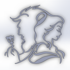 Beauty and the Beast.PNG Download free STL file Beauty and the Beast • 3D printing object, Saeid