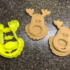Free 3D print files Rudolph the Reindeer Cookie Cutter, fasteddy