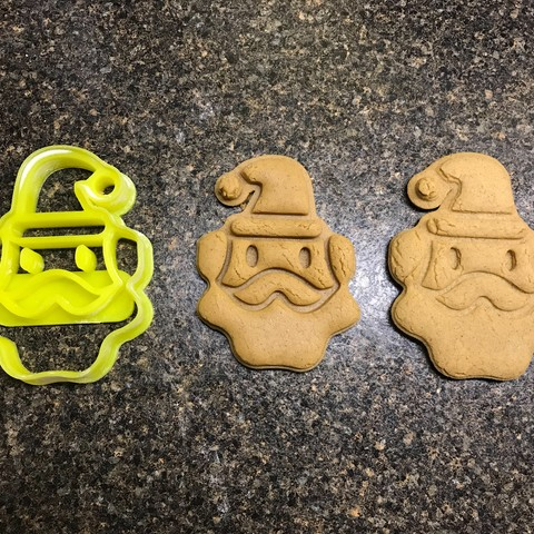 Download free STL Santa Clause Cookie Cutter, fasteddy