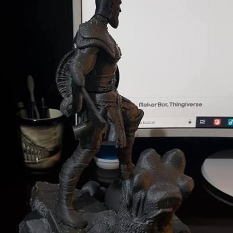 Free STL file god of war kratos , mlg-metalcom