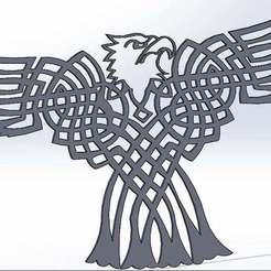 eagle02_display_large.jpg Télécharger fichier STL gratuit Pygargue à tête blanche celtique • Plan imprimable en 3D, arifsethi
