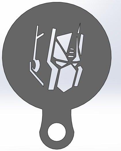 optimus_prime_display_large.jpg Download free STL file Coffee Stencil - Optimus Prime • 3D printer model, arifsethi
