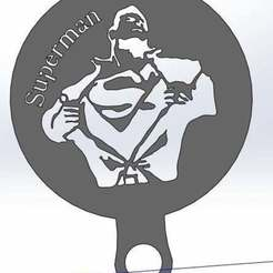 Download free STL file Coffee Stencil - Superman • 3D print template, arifsethi