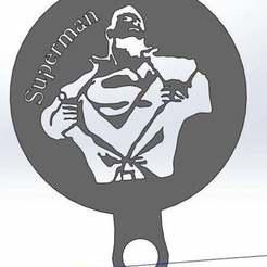 Télécharger objet 3D gratuit Pochoir à café - Superman, arifsethi