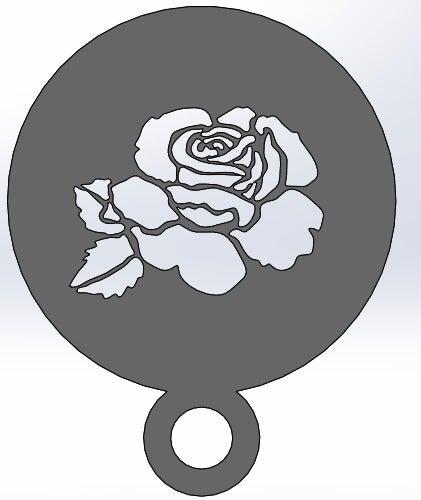 rose_display_large.jpg Télécharger fichier STL gratuit Pochoir à café - Rose • Modèle à imprimer en 3D, arifsethi