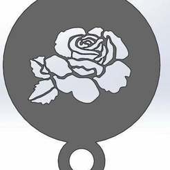Télécharger modèle 3D gratuit Pochoir à café - Rose, arifsethi