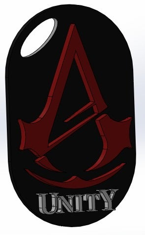 Unity_keychain_display_large.jpg Download free STL file Assassins Creed Unity (2014) • 3D printable design, arifsethi