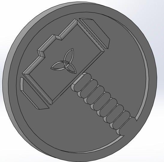 thor_display_large.jpg Download free STL file Marvel - Thor logo • 3D printing model, arifsethi