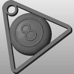 cue_2_display_large.jpg Download free STL file cue ball 8 key chain • 3D printer object, arifsethi