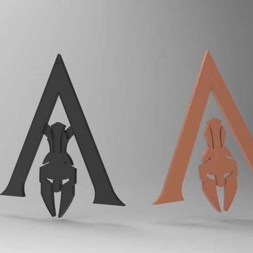 Download free 3D printing templates Assassins Creed Odyssey - Logo and Keychain, arifsethi